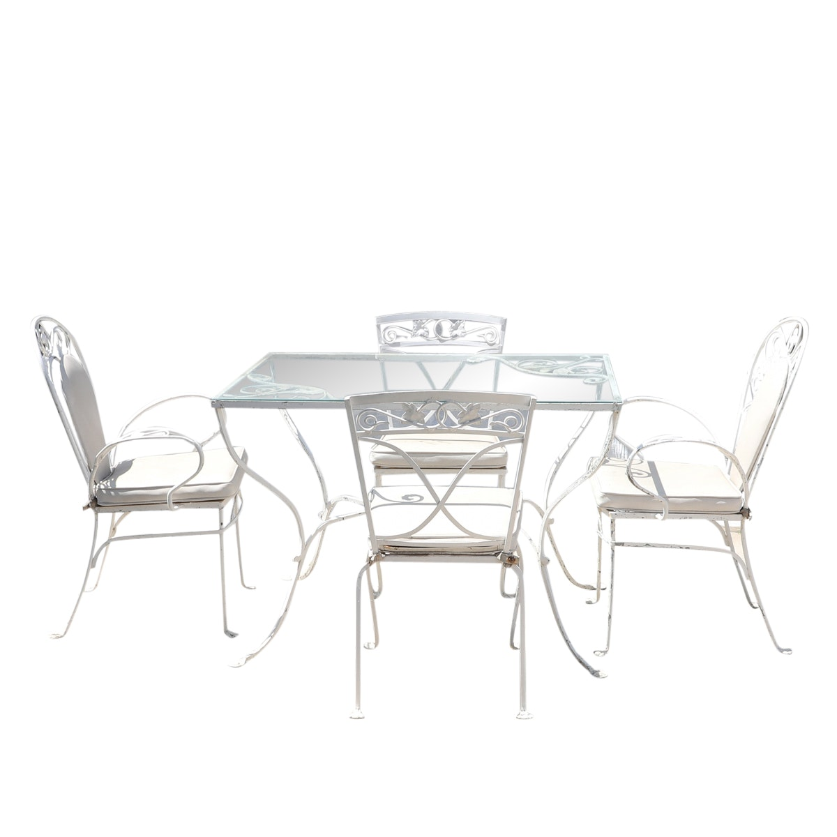 "Salterini ""Mt. Vernon"" Wrought Iron Patio Table and Chairs"