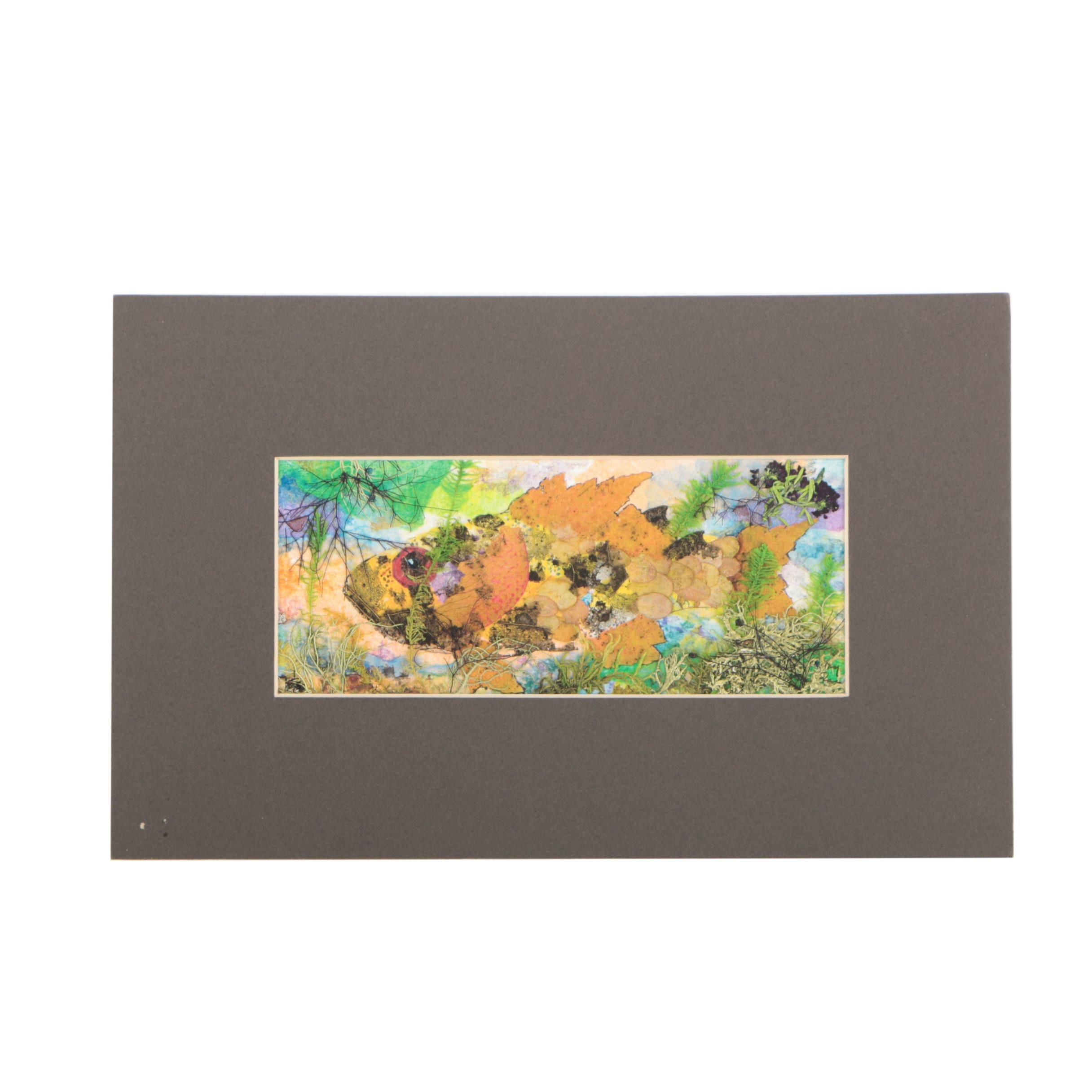 Giclee Print of Fish and Island Plants