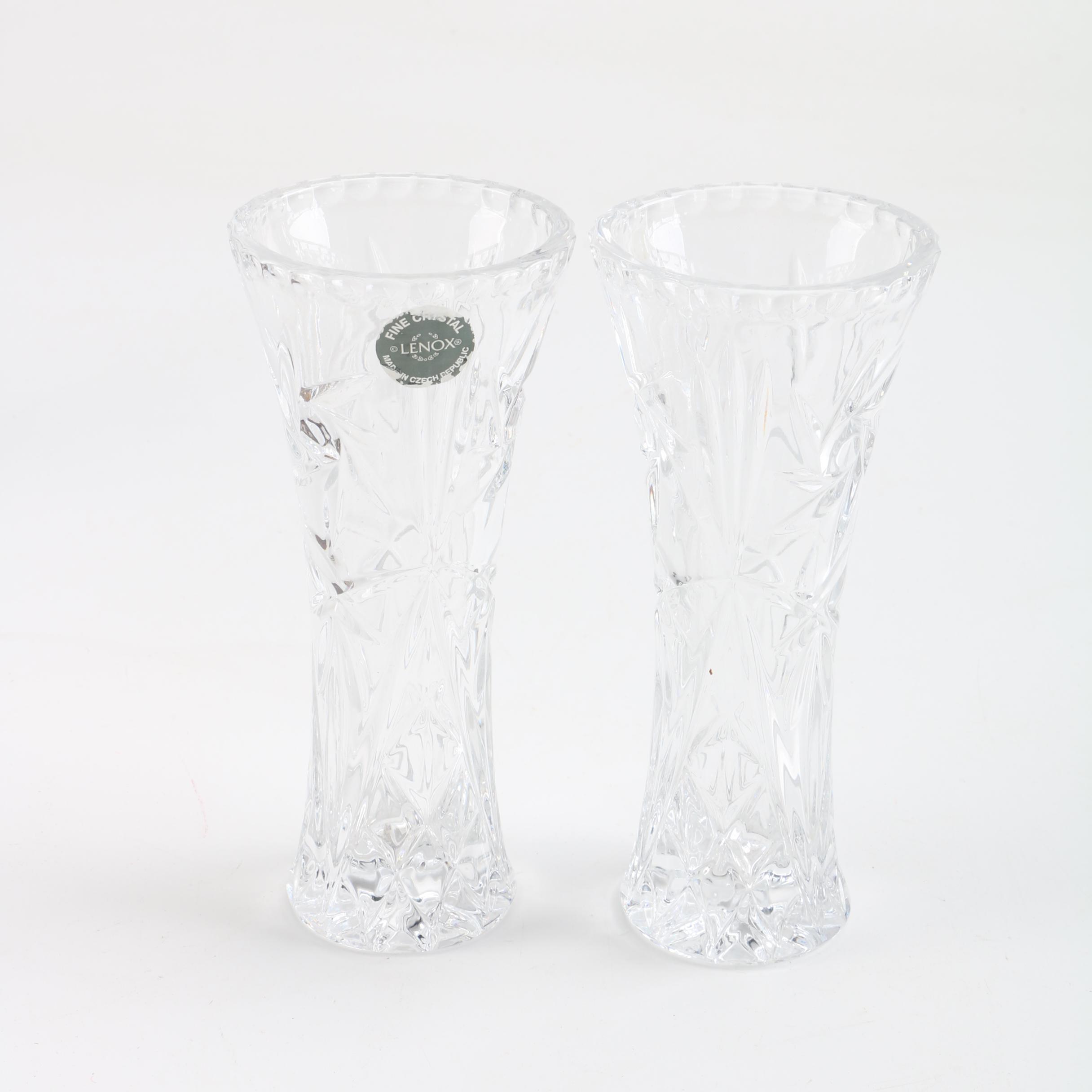 Lenox Crystal \ Star\  Flower Vases ... & Lenox Crystal \