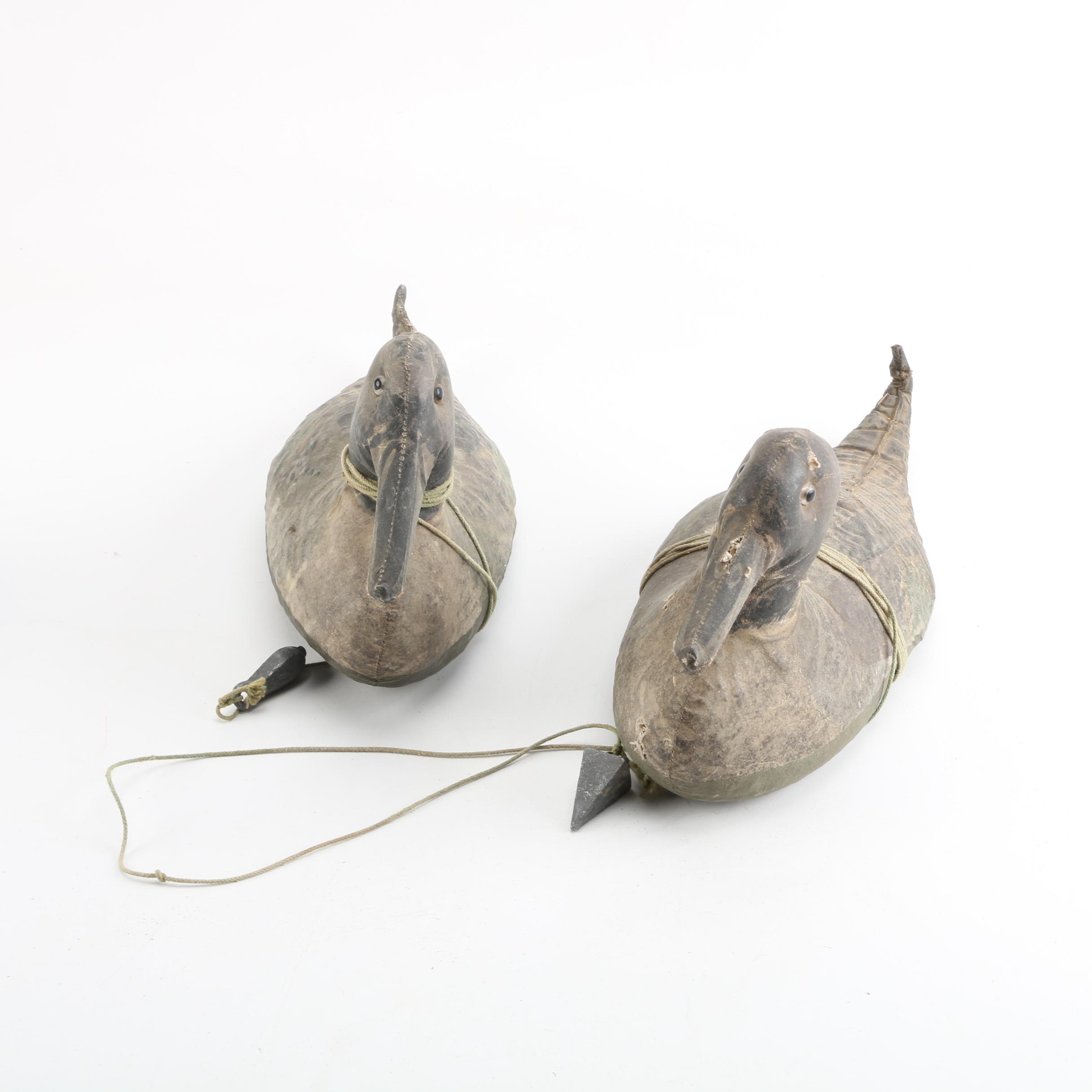 Antique Hand-Sewn Duck Decoys