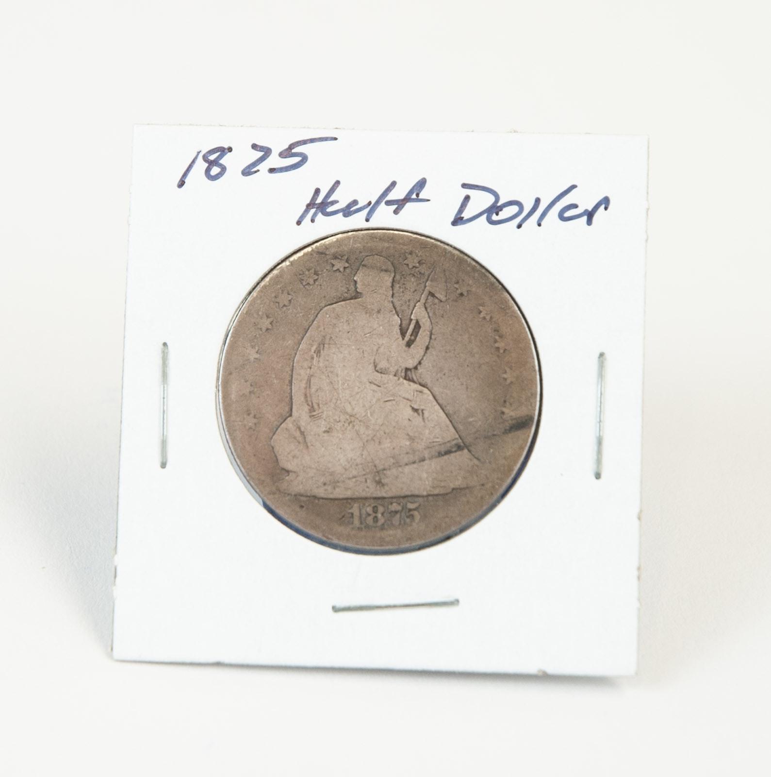 1875 Seated Liberty Silver Half Dollar