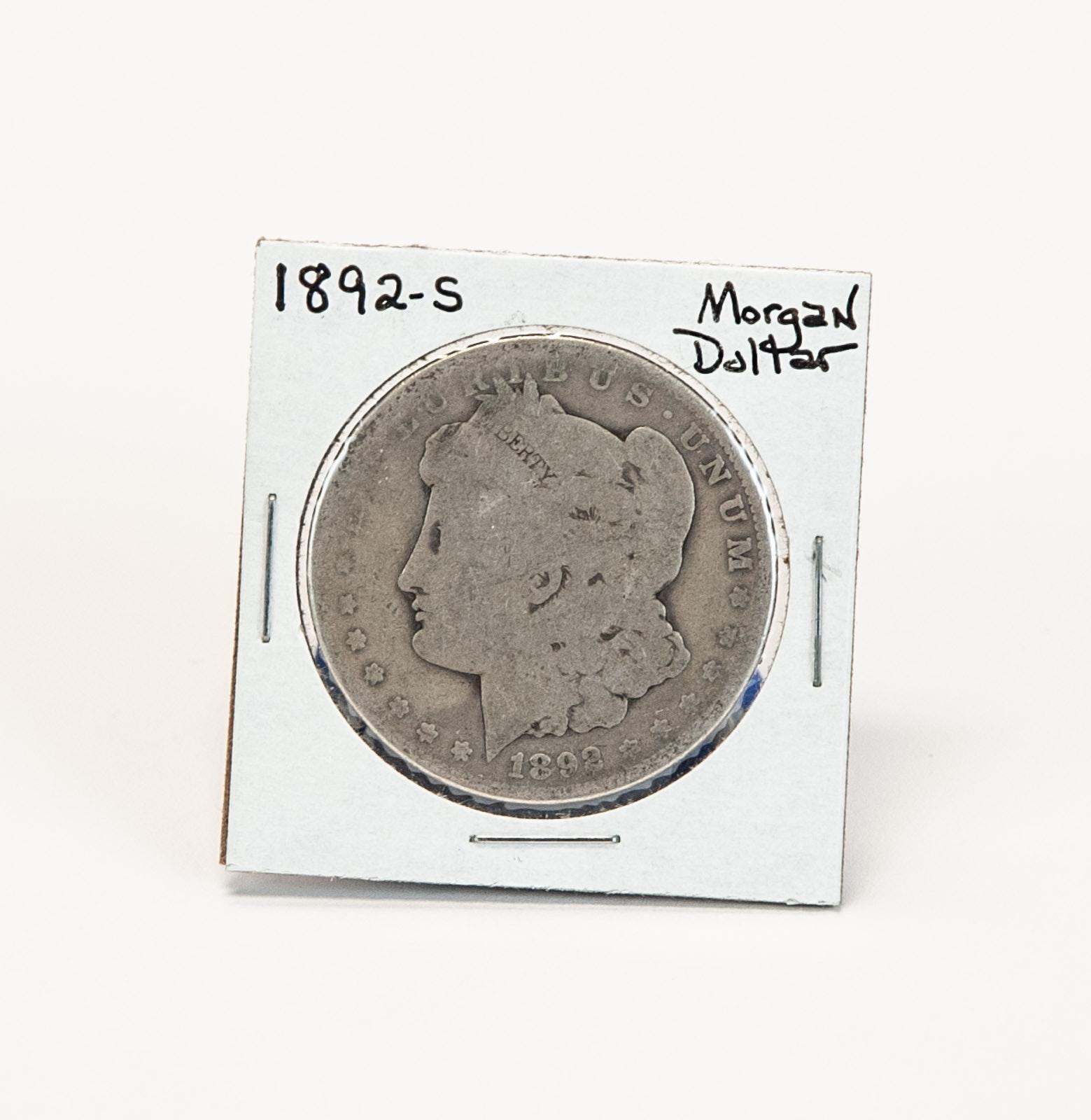 1892 S Morgan Silver Dollar
