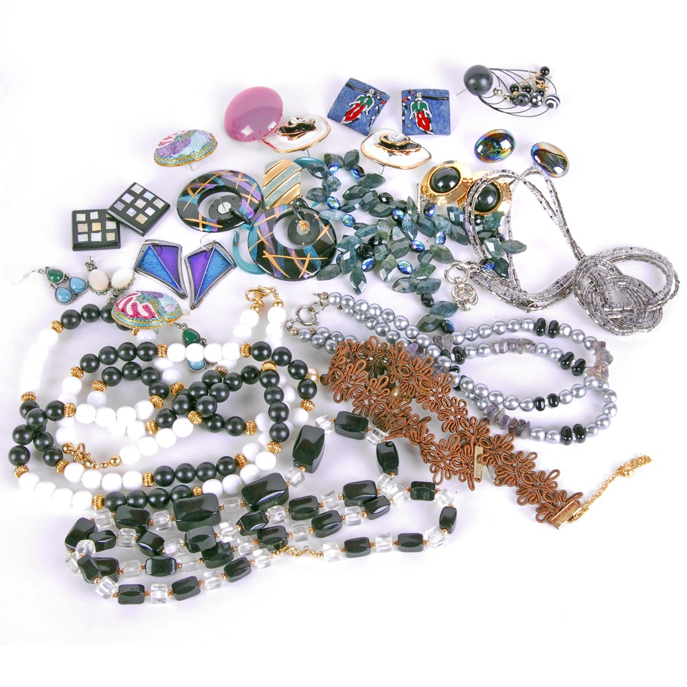 Colorful Costume Jewelry Assortment ...  sc 1 st  EBTH.com & Colorful Costume Jewelry Assortment : EBTH