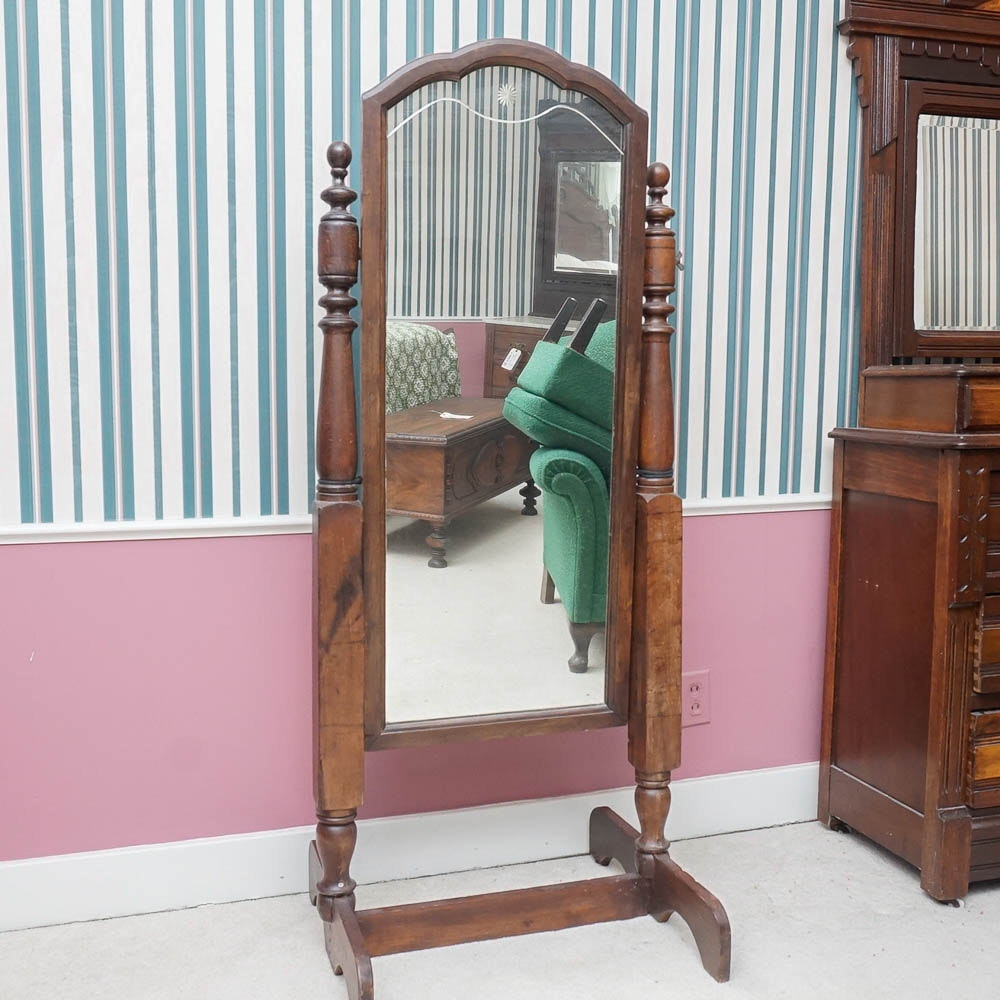 Floor mirror stand wood