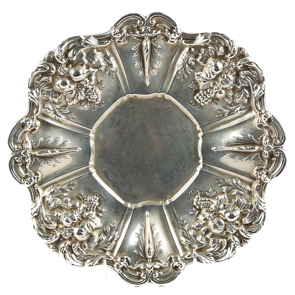 """Reed & Barton Sterling Silver """"Francis I"""" Sandwich Plate"""