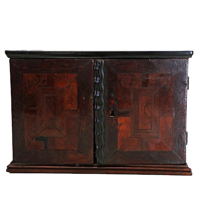 Antique Dutch Snakewood, Ebony, and East Indian Rosewood Parquetry Spice  Cabinet - Vintage And Antique Cabinets Auction In Sterling Silver, Antiques