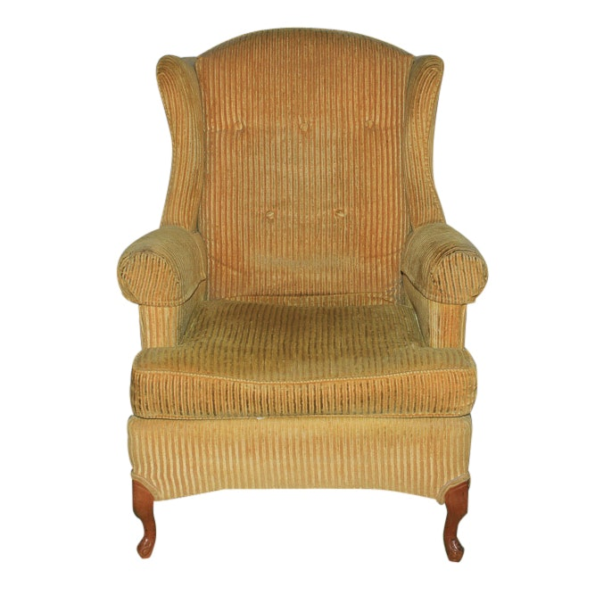 Upholstered Wingback Armchair by Brandon Furniture Co.