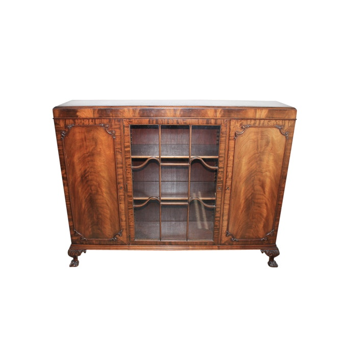 Vintage Chippendale Style Display Cabinet