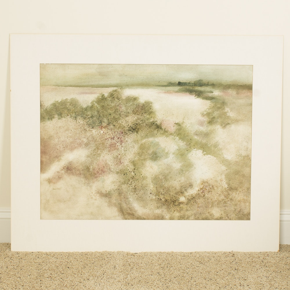 "Carolyn Howard Watercolor Painting ""Bayside"""