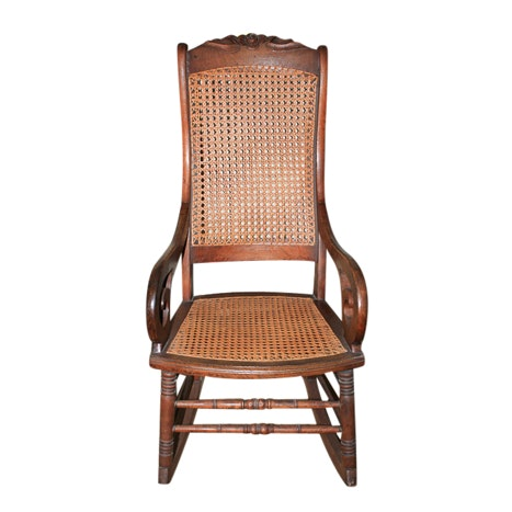 Vintage Victorian Style Cane Seat Rocking Chair