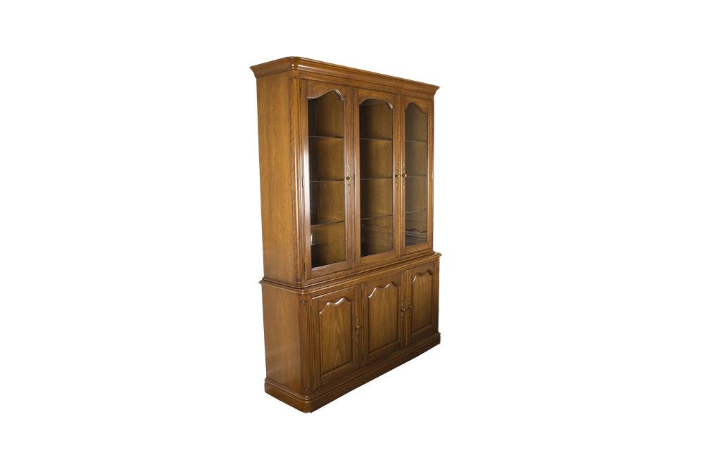 Walnut Display Cabinet by Kindel