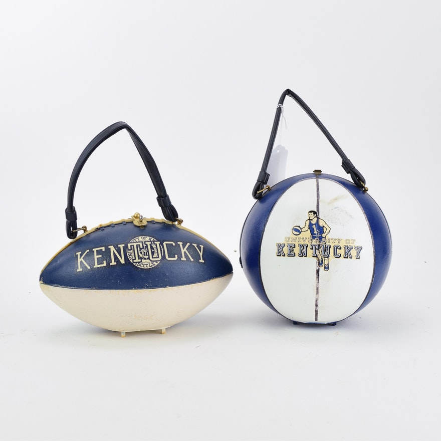 Vintage University Of Kentucky Basketball And Football Handbags