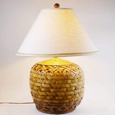 Vintage floor lamps retro table lamps antique lighting in home rattan woven table lamp mozeypictures Gallery