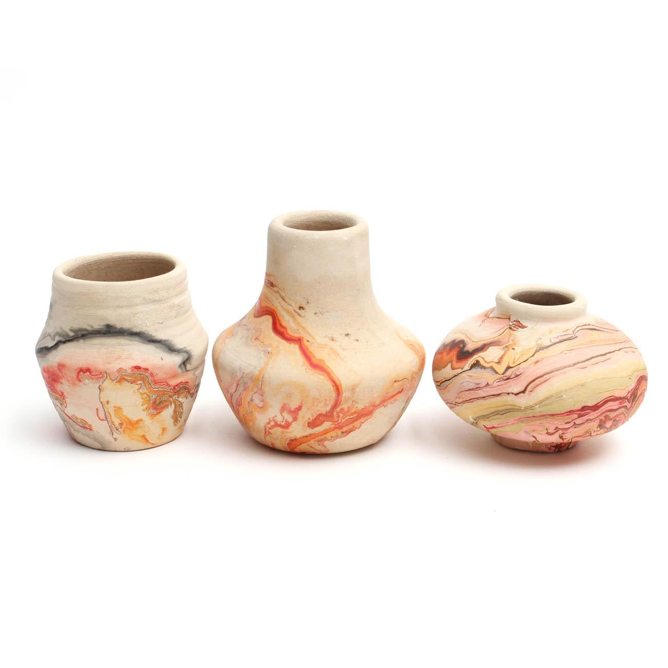 Nemadji Pottery Stoneware Vases