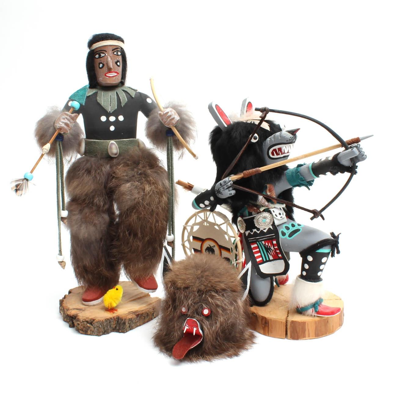 Native American Kachina Doll Figures