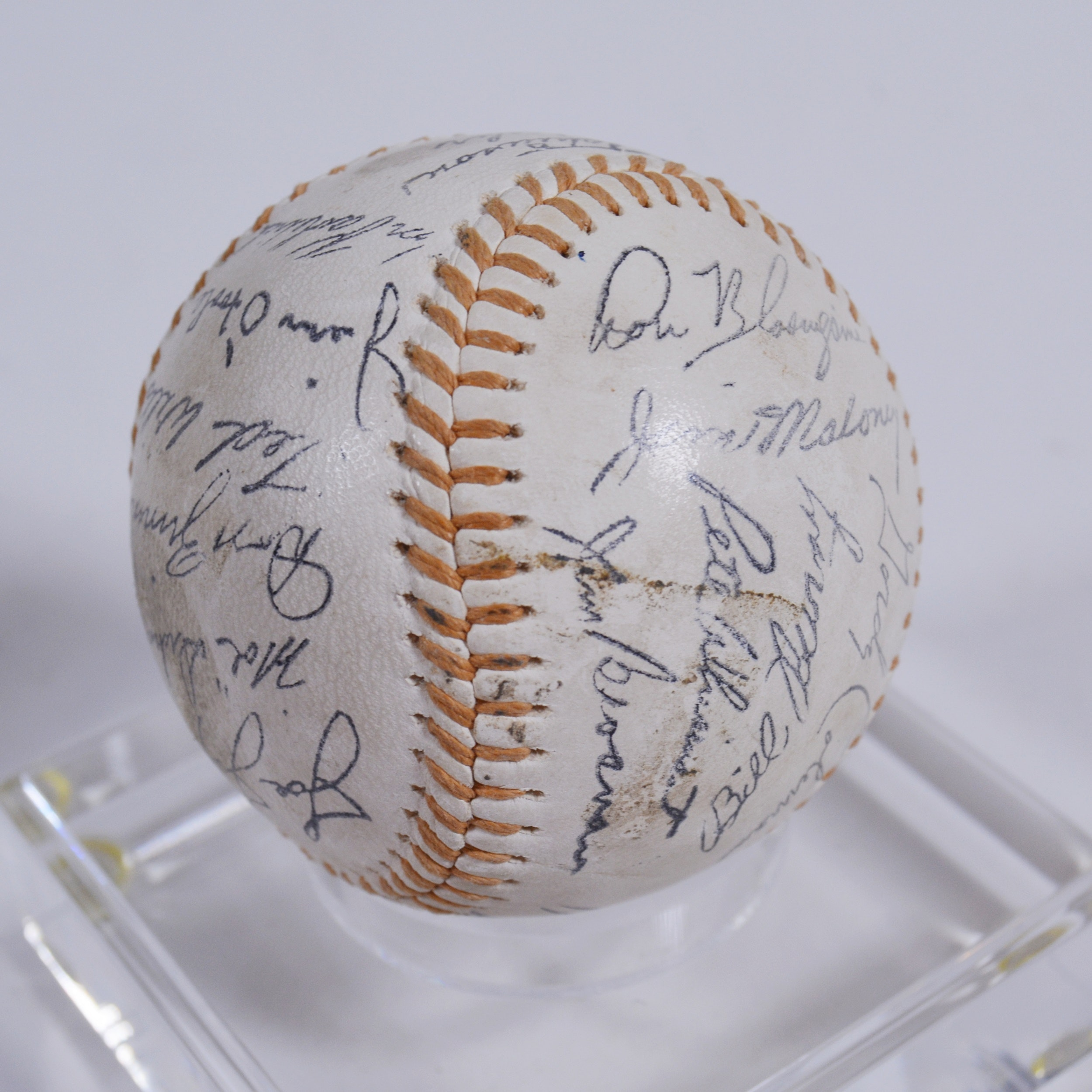 Stamped Signature Cincinnati Reds Baseball