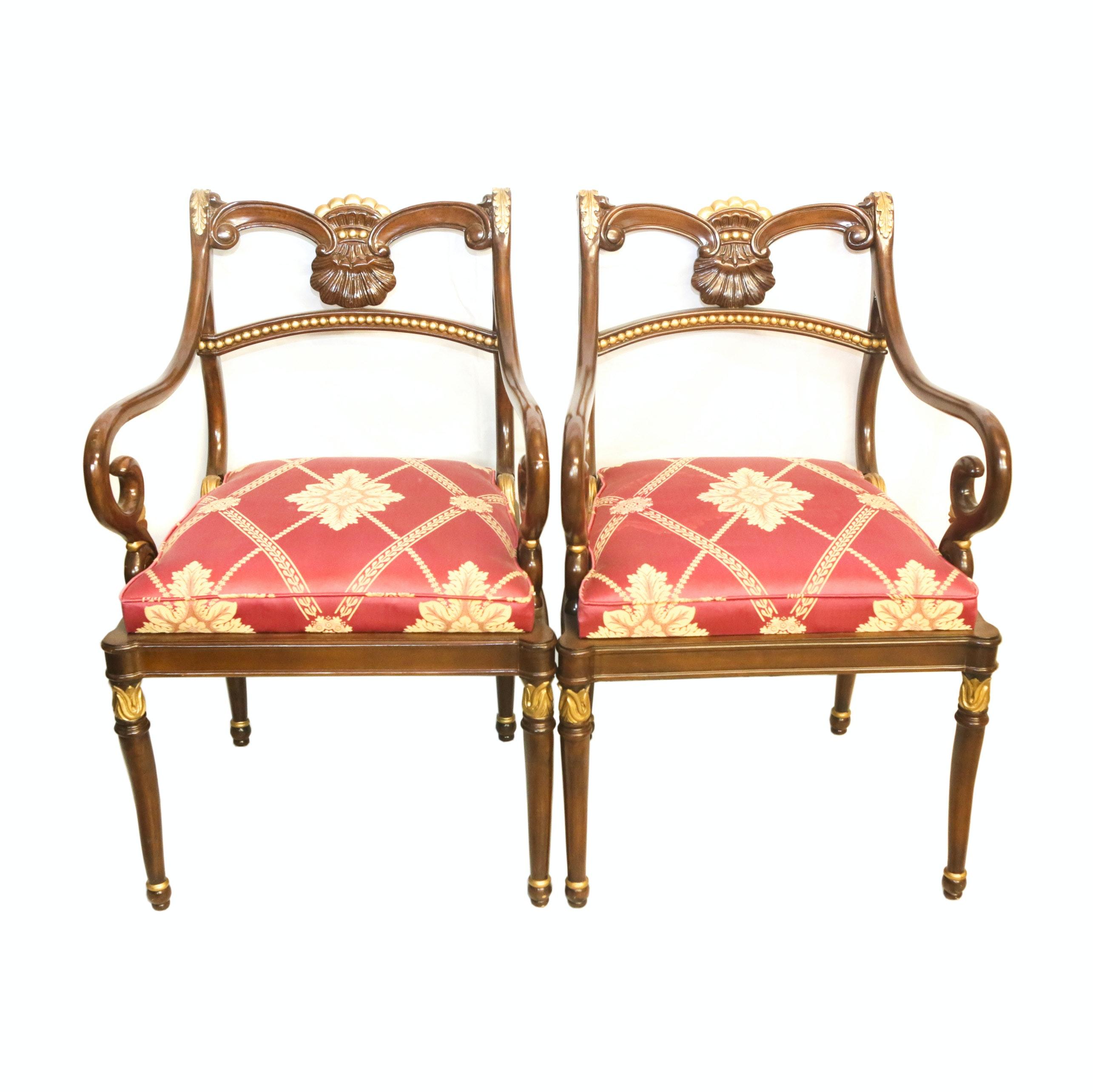 Vintage Regency Style Armchairs