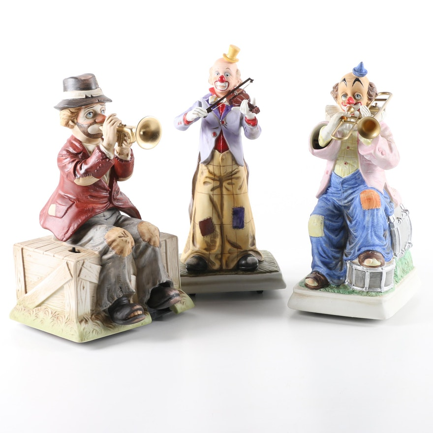 WACO Melody in Motion Musical Clown Figurines