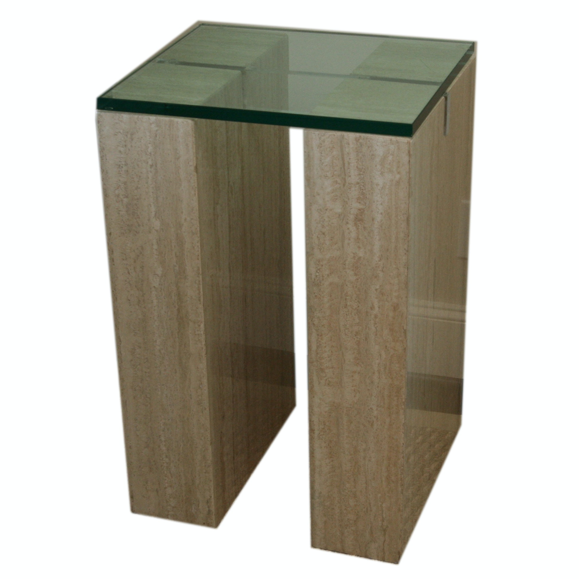 Faux Stone Display Table With Glass Top ...