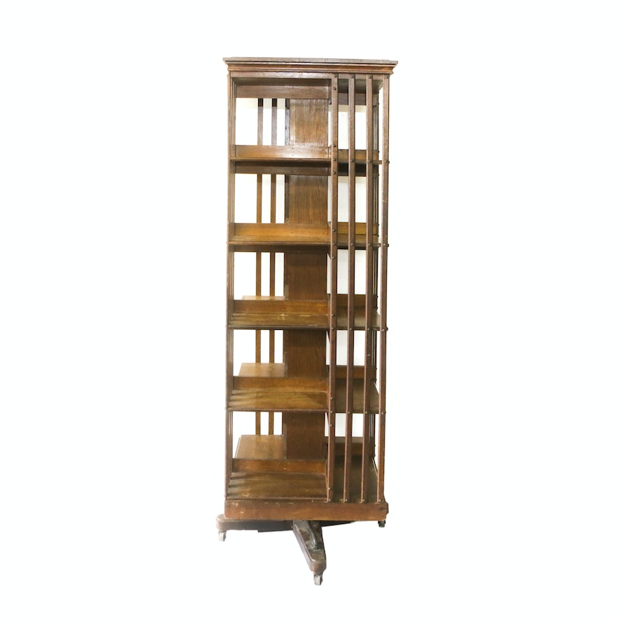 large mahogany a vinterior revolving scale listings bookcase photo