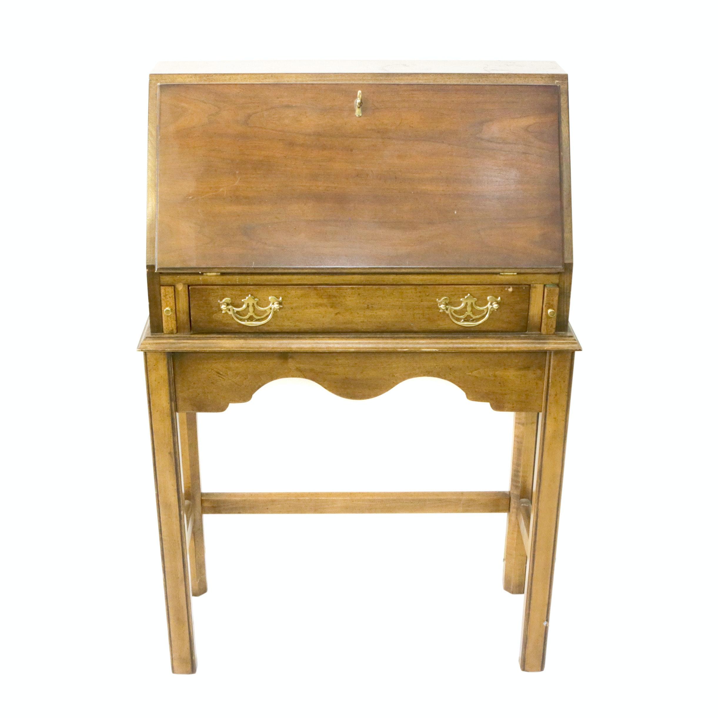 Vintage Walnut-Finished Secretary Desk
