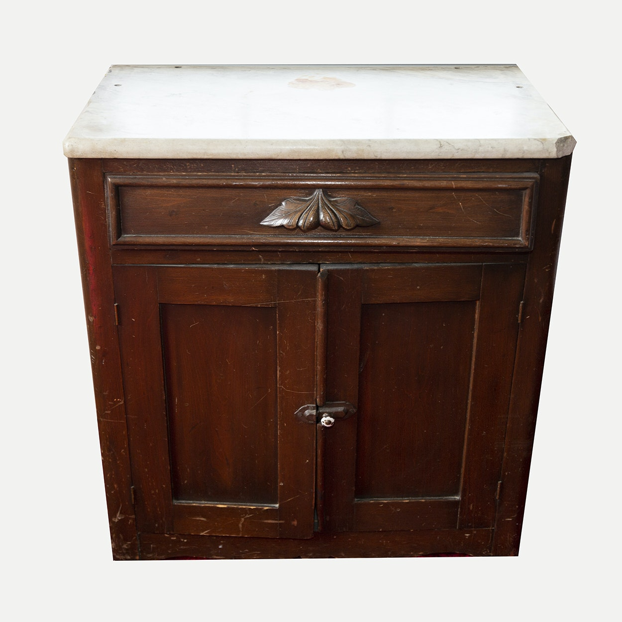 Antique Victorian Marble Top Commode