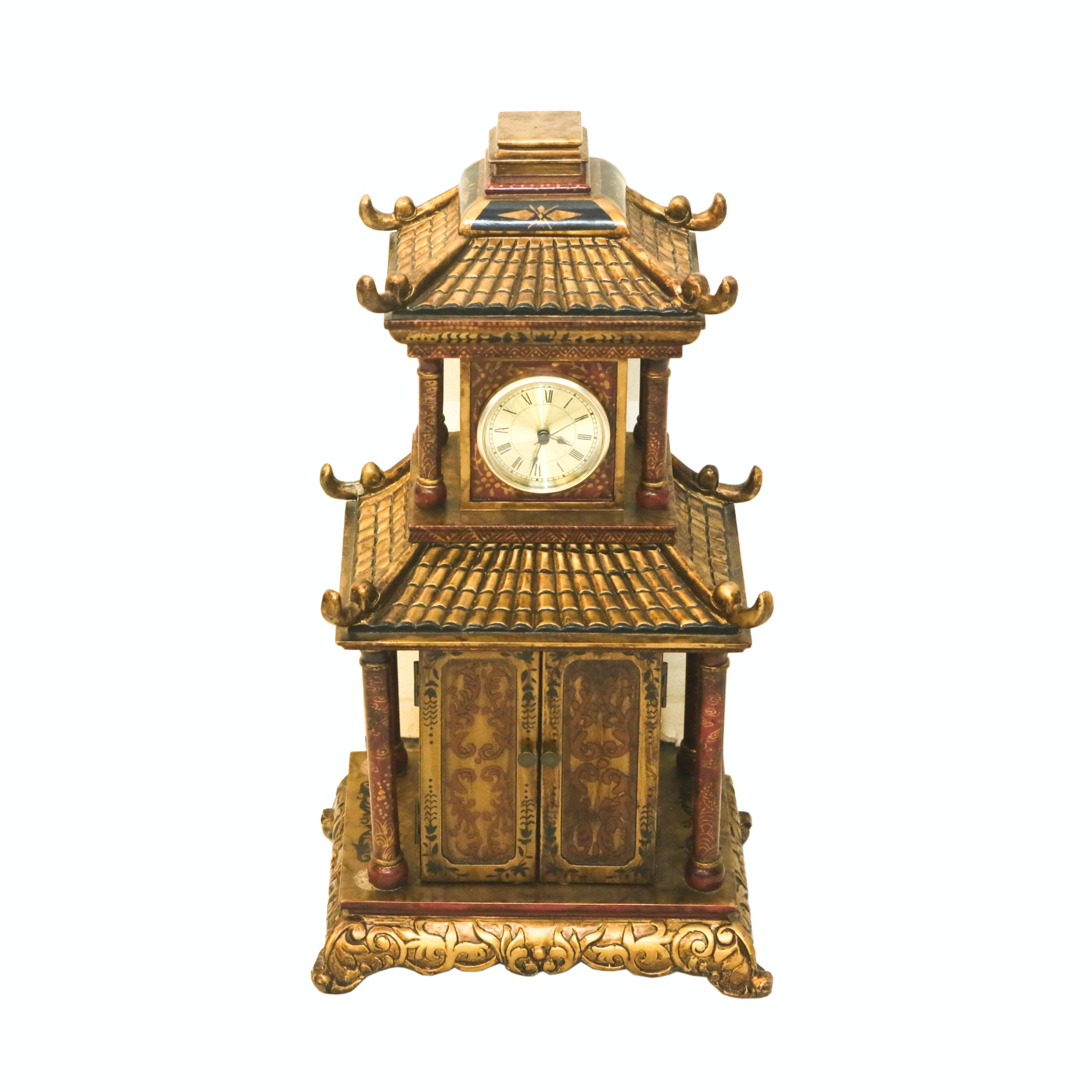 Asian Inspired Clock And Storage Chest ...