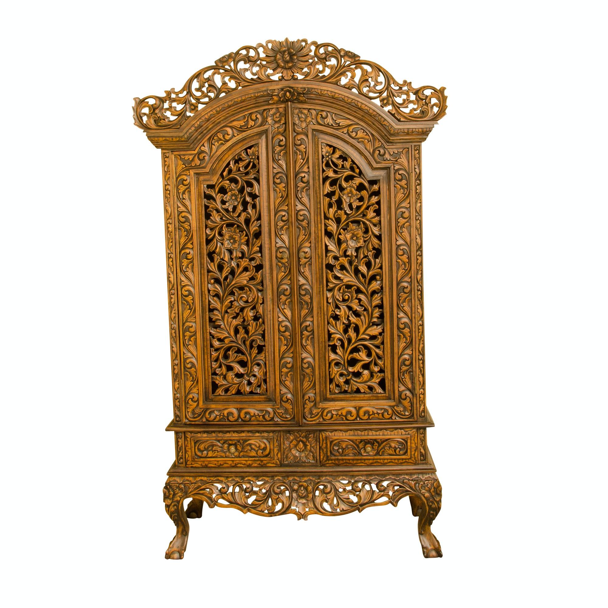 Dutch Style Ornately Carved Wardrobe