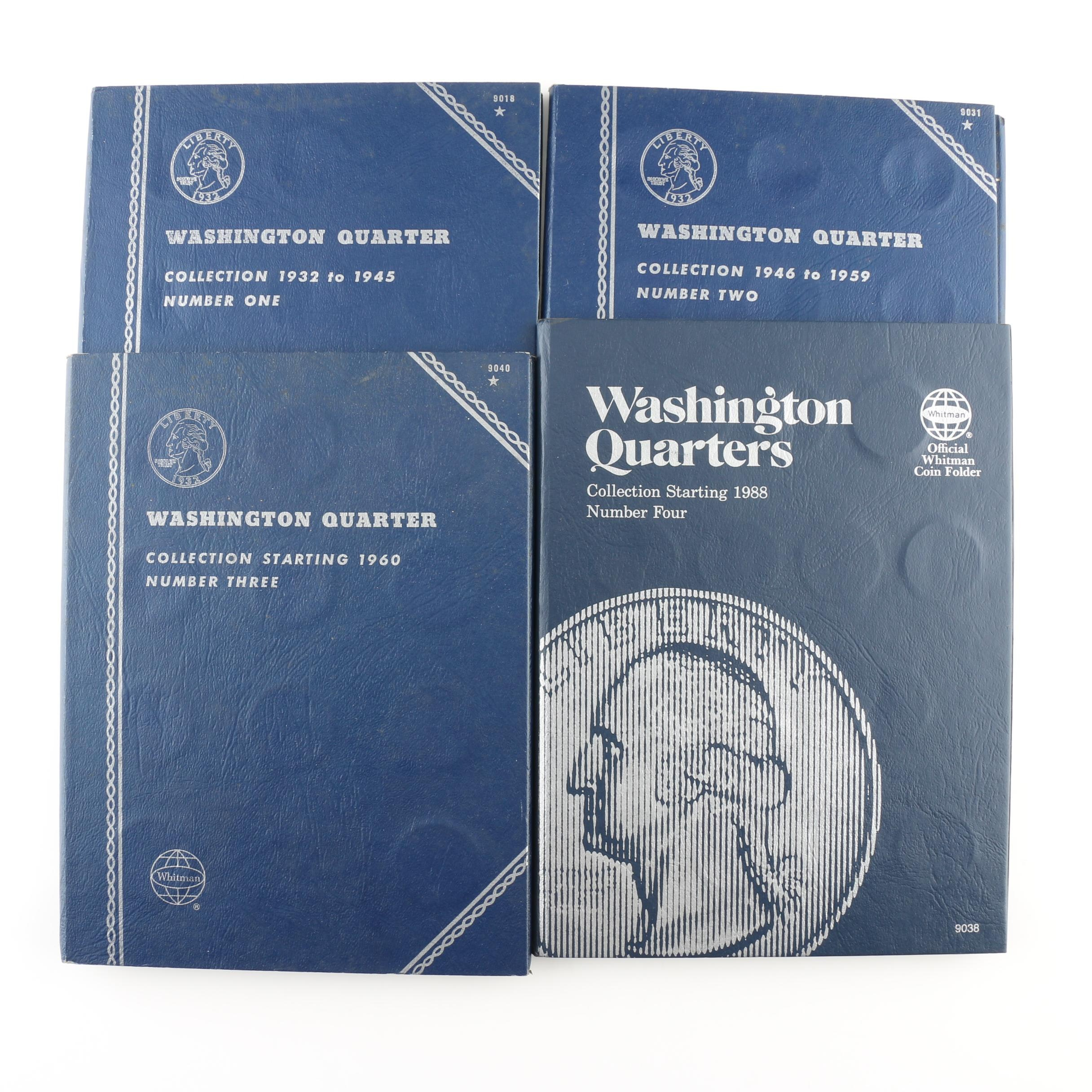 Four Whitman Binders of Washington Quarters