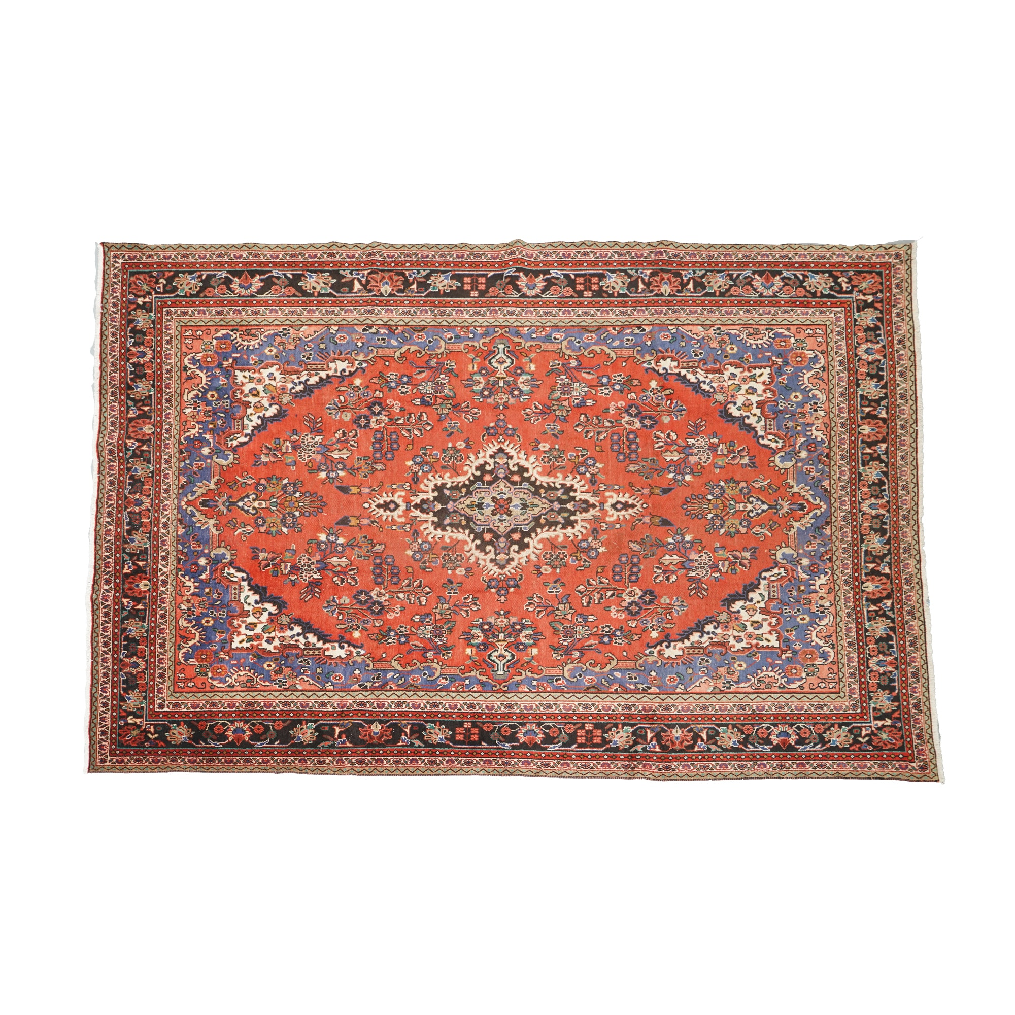 """Hand-Knotted Persian """"Vase"""" Area Rug"""