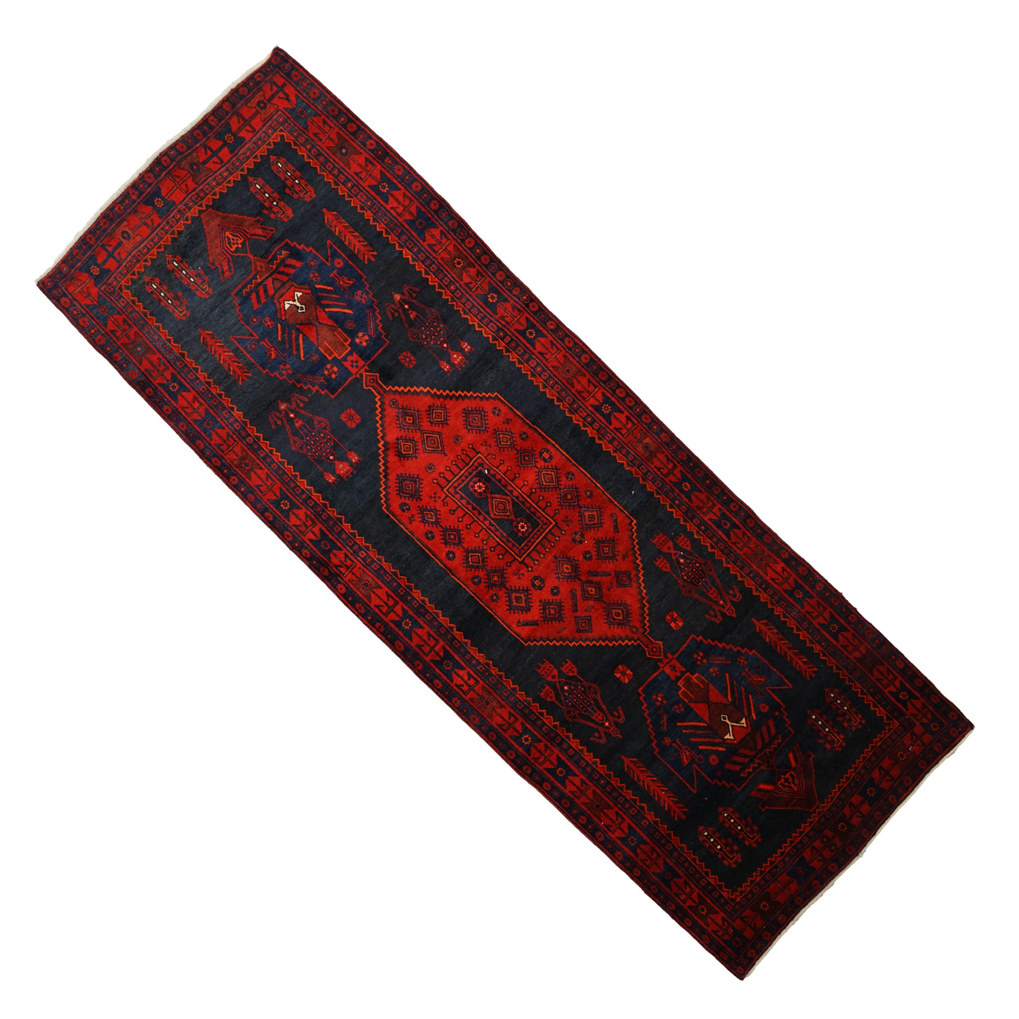 Hand-Knotted Shahsavan Wool Long Rug