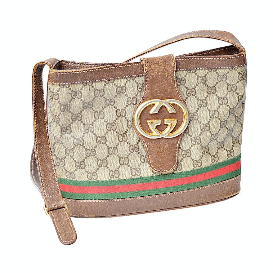 712a4d3b0c9 Vintage Gucci Shoulder Bag   EBTH