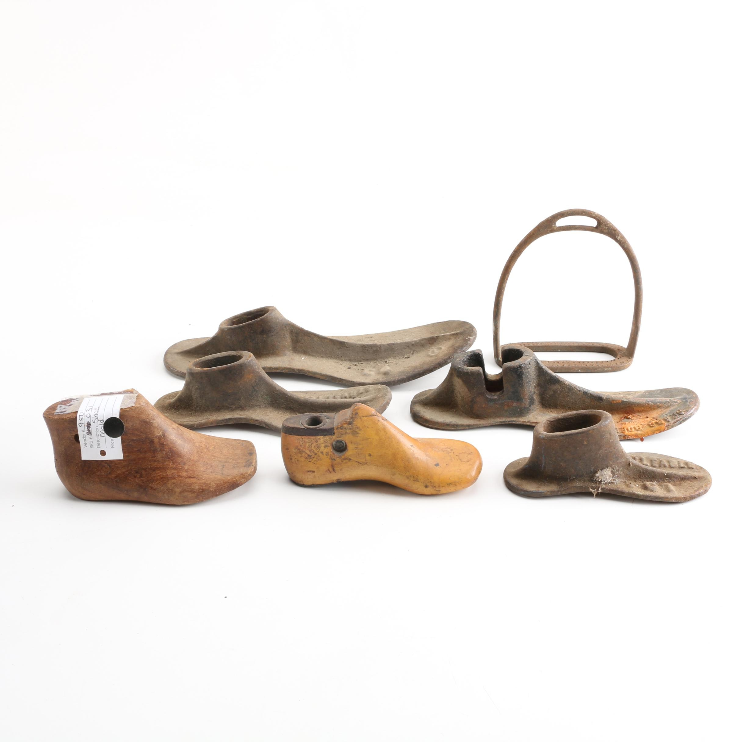 Antique Shoe Forms Including Sears Roebuck