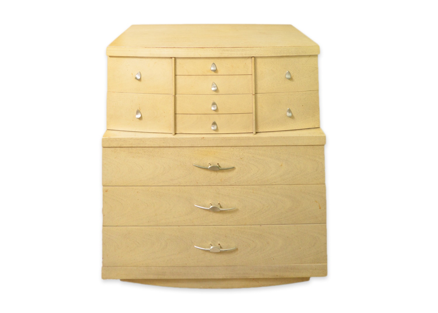Mid Century Modern Blonde Chest of Drawers