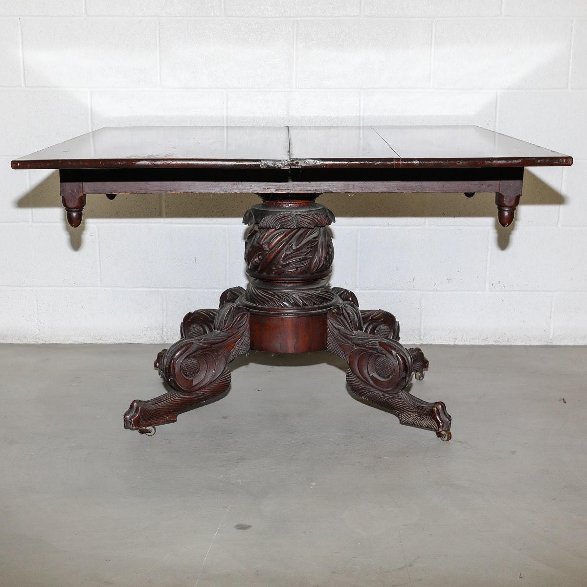 Empire Style Mahogany Dining Table, Circa Early 1800s