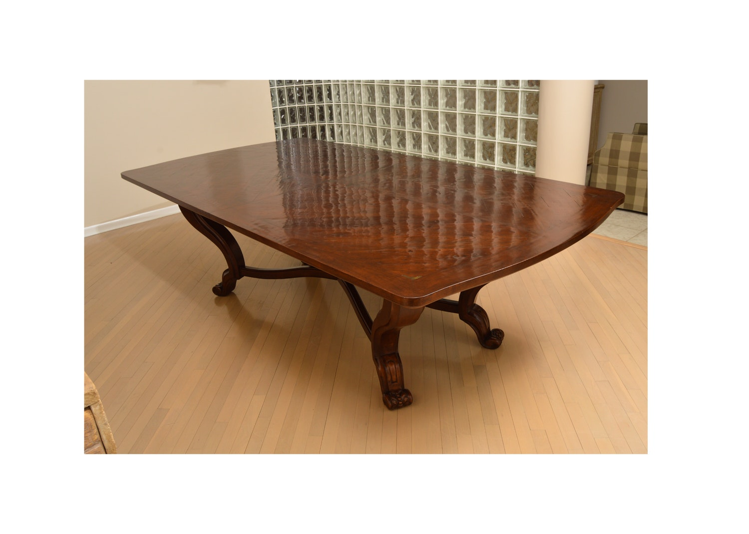 """Palladio"" Waxed Cherry Dining Table by Emanuel Morez"