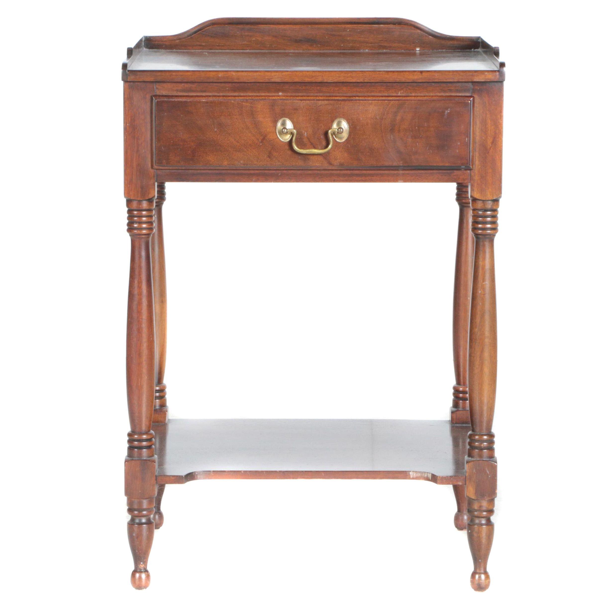 Vintage Federal Style Mahogany Side Table by Henkel-Harris
