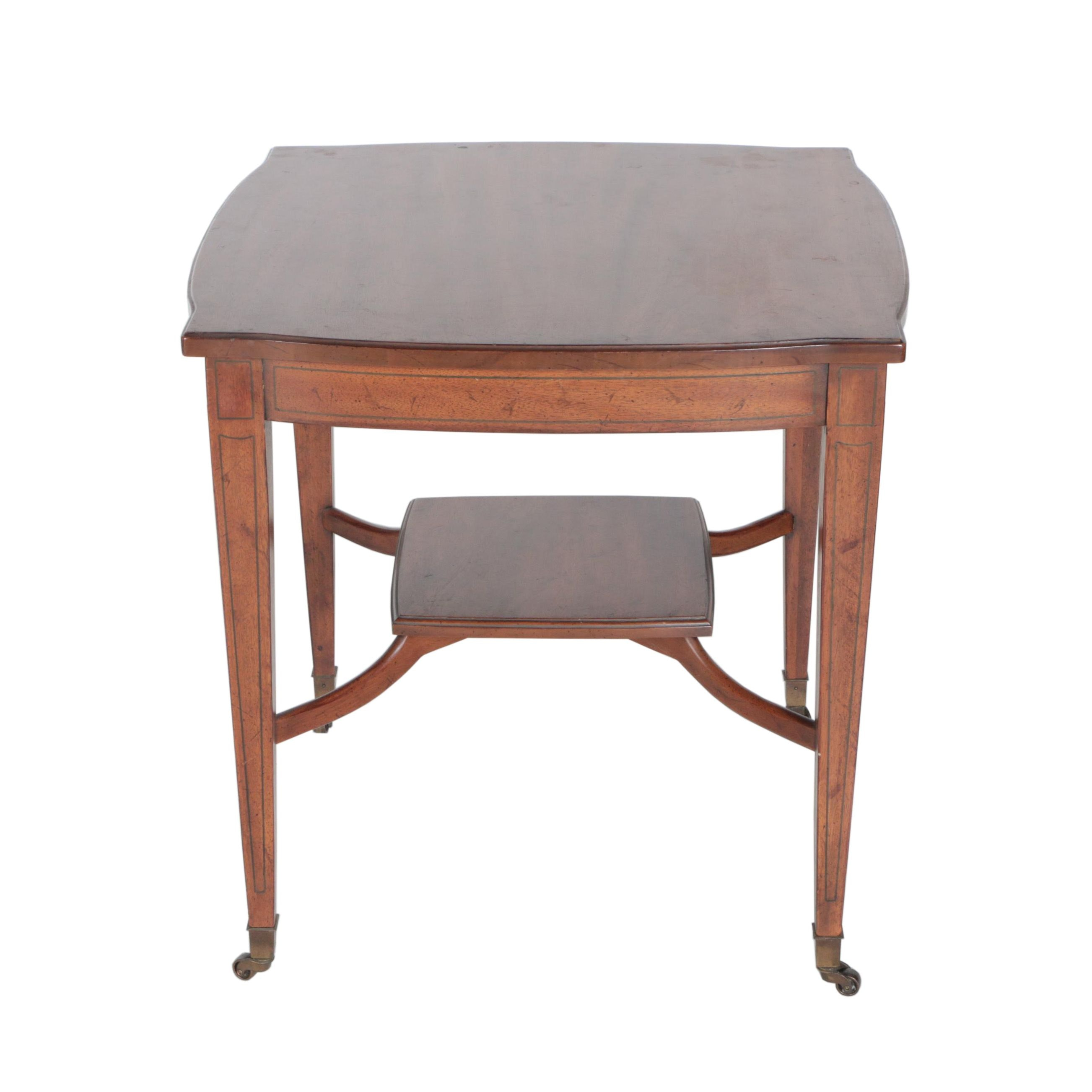 Vintage Mahogany Accent Table by Davis Cabinet Co.