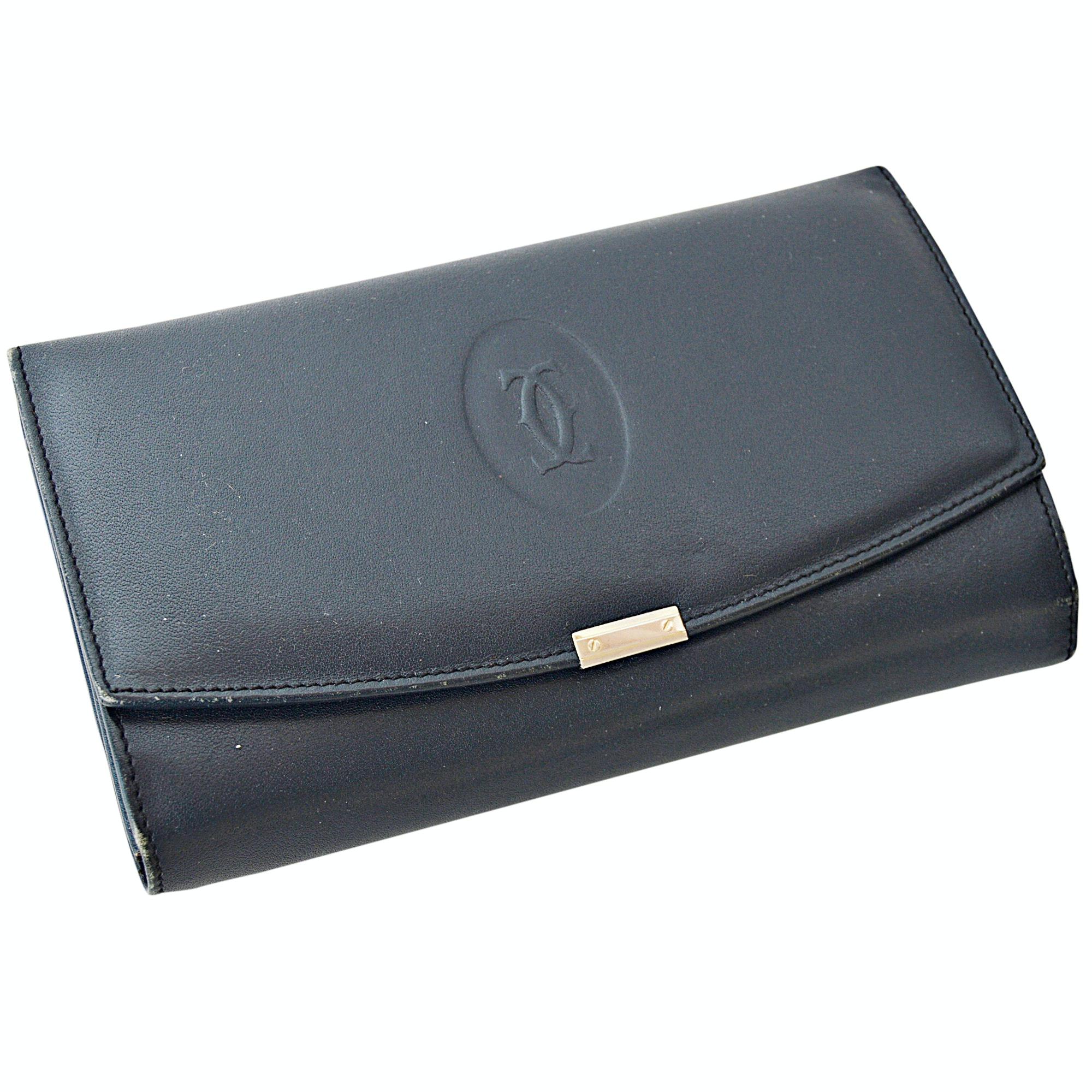 Cartier of Paris Black Leather Wallet