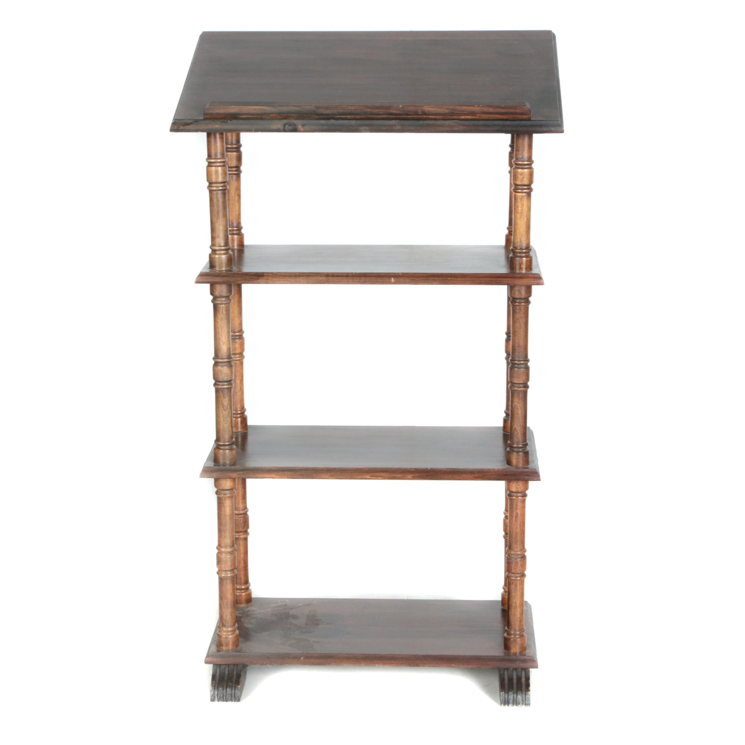 Vintage Bookcase with Book Rest