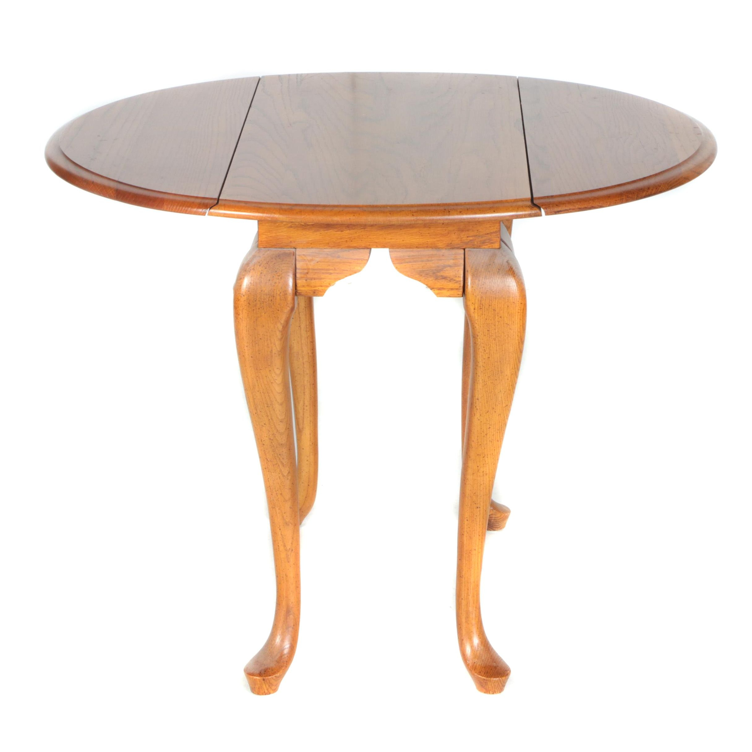 Queen Anne Style Drop Leaf Side Table