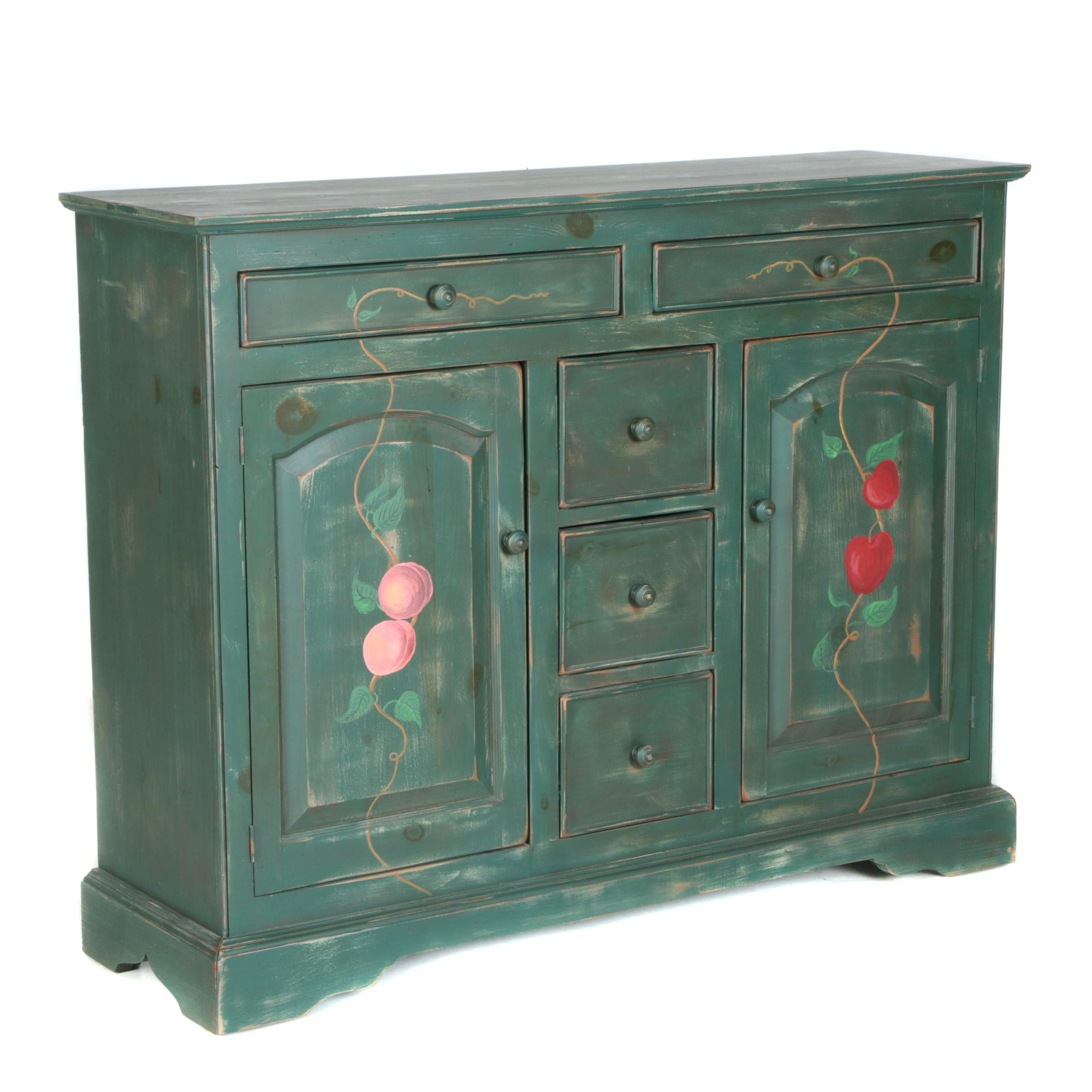 Hand-Painted Wood Buffet
