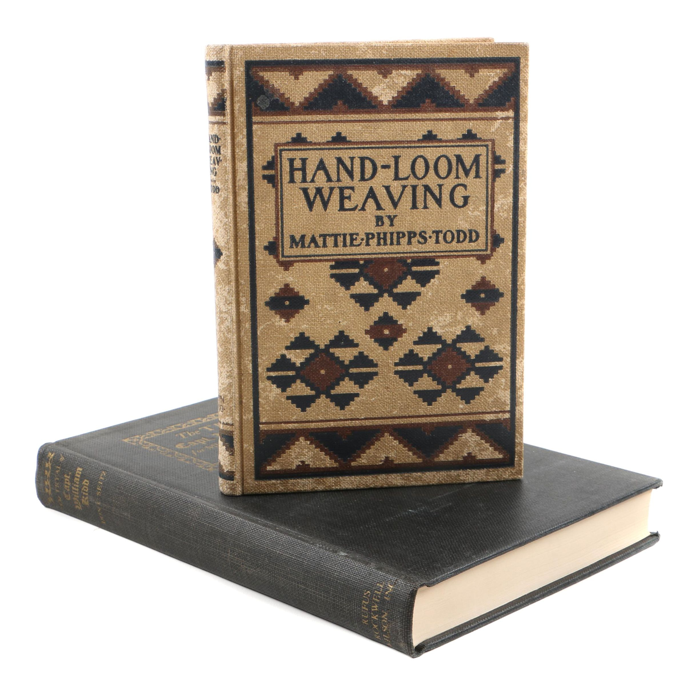 Early 20th Century Books on Weaving and Chinese Art