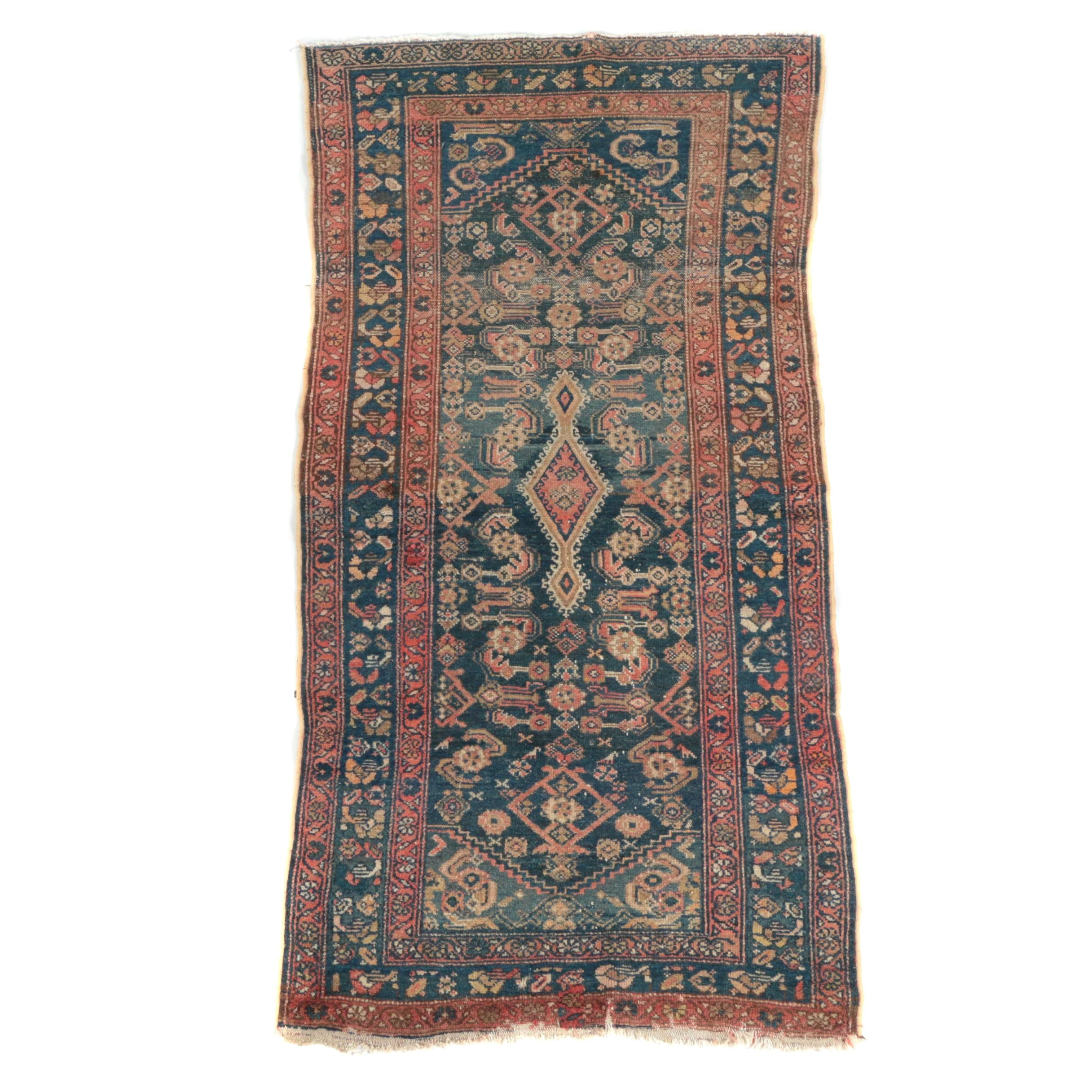 Semi-Antique Hand-Knotted Persian Wool Area Rug
