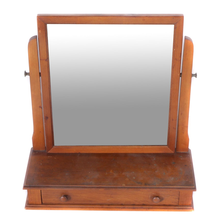 - Vintage Vanity Mirror With Drawer By B.P. John Furniture Corporation
