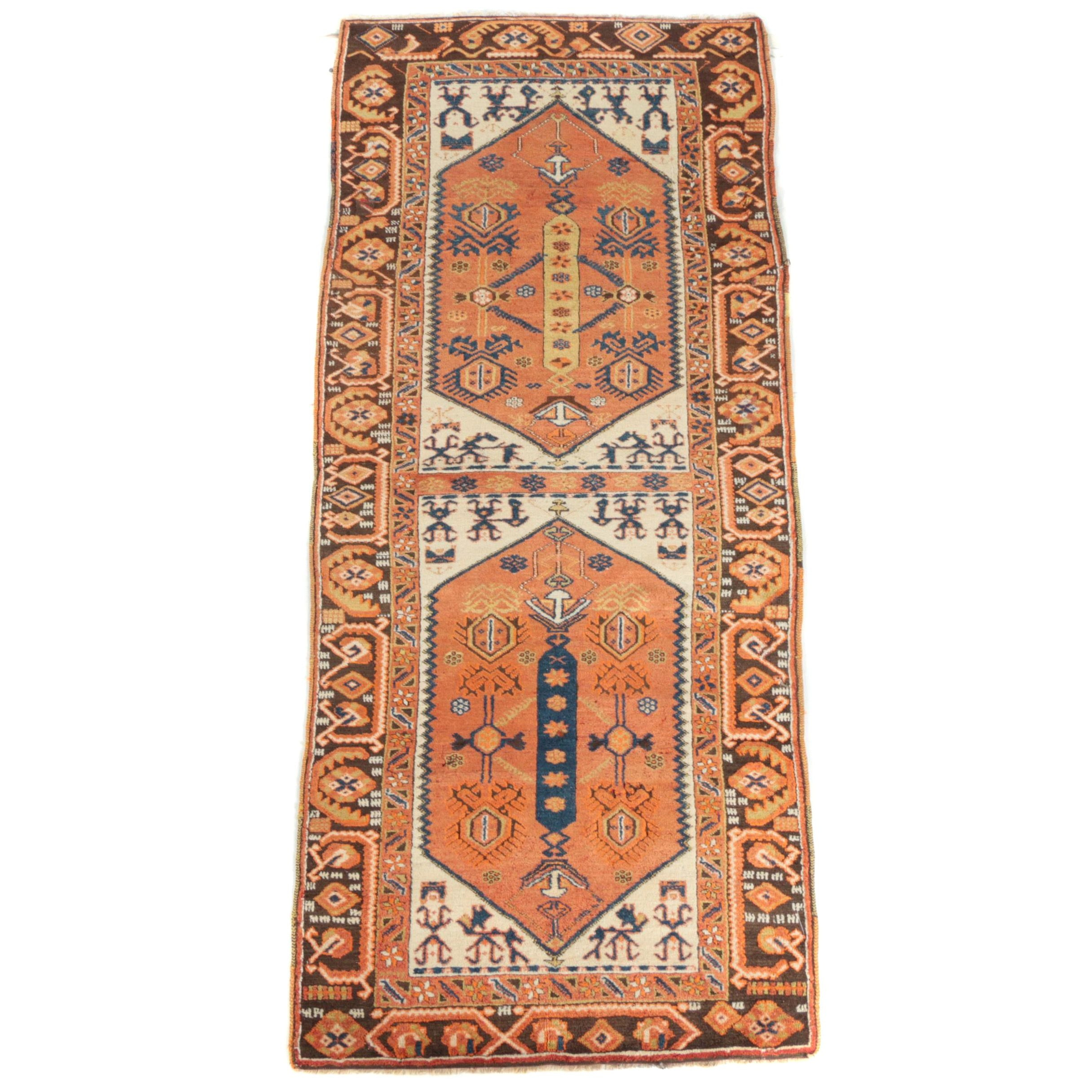 Hand-Knotted Anatolian Wool Carpet Runner
