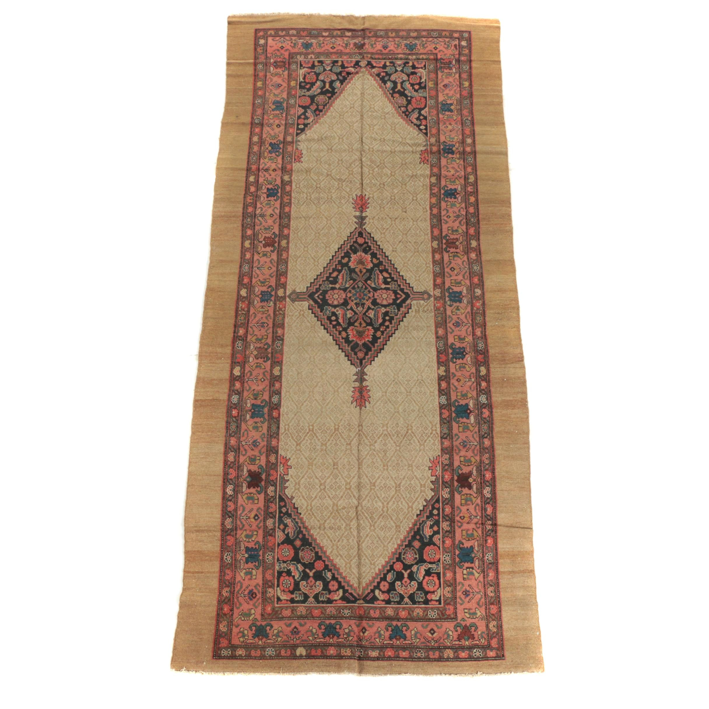 Hand-Knotted Persian Serab Long Rug