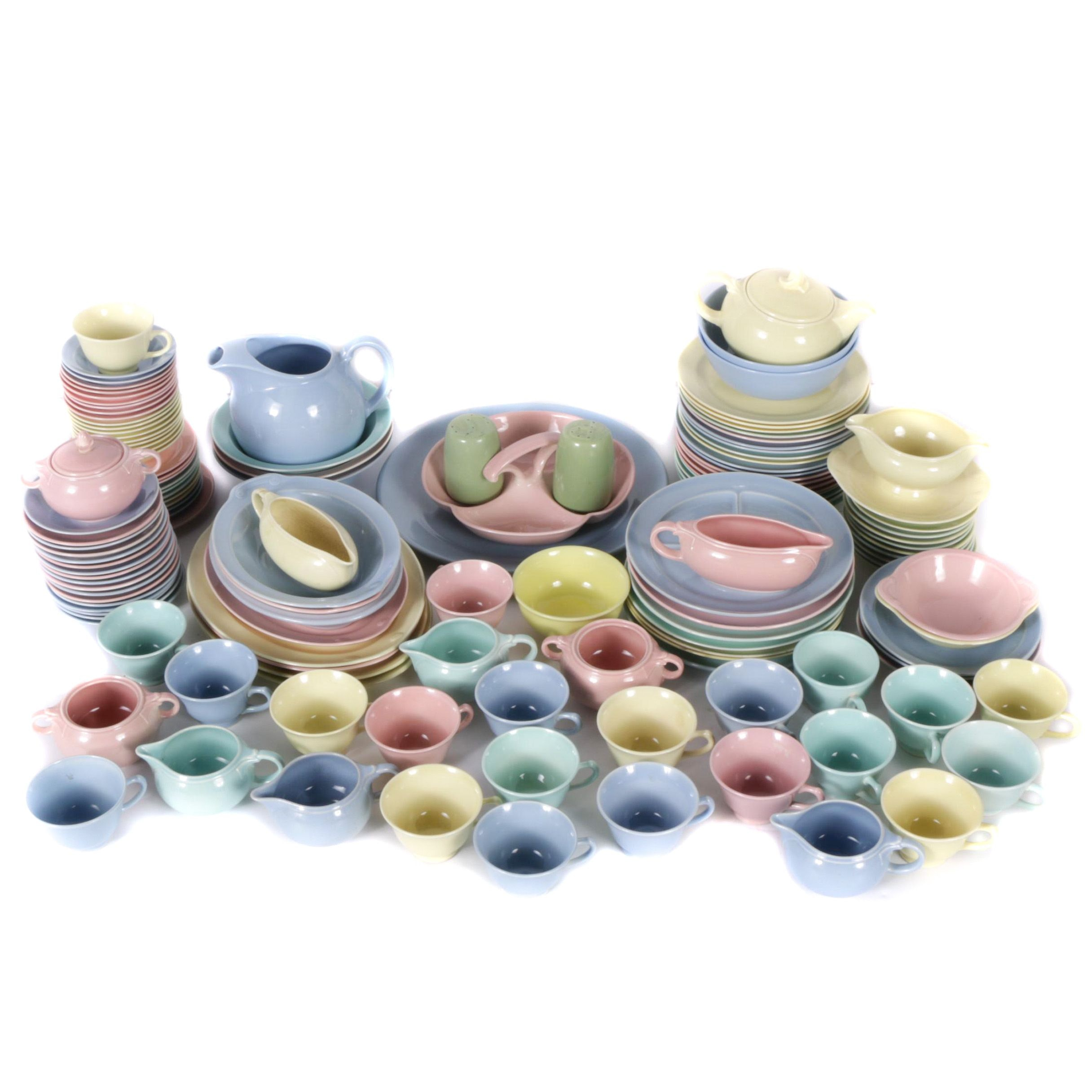"""Large Selection of """"Fiesta"""" Style Ceramic Tableware"""