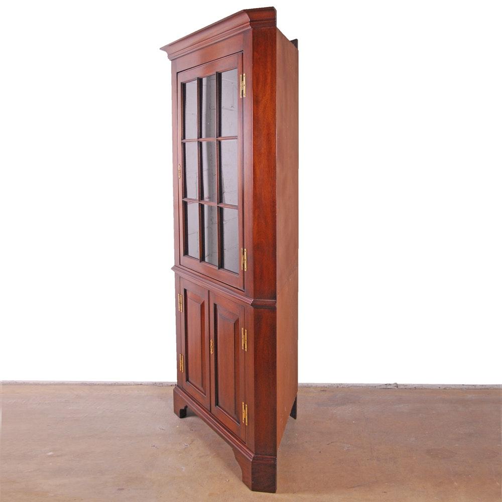 Henkel-Harris Mahogany Corner Display Cabinet