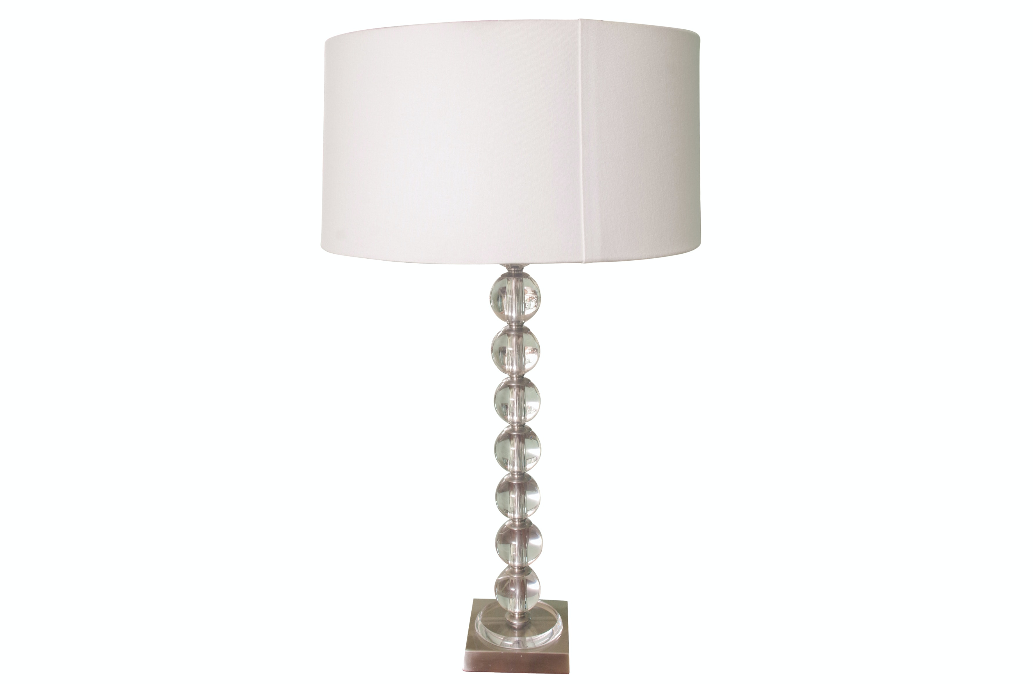 Frederick Cooper Contemporary Stacked Glass Ball Table Lamp Ebth